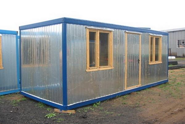 Блок-контейнер с двумя окнами